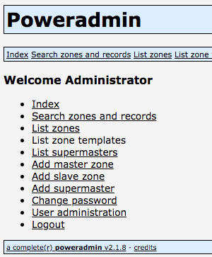 PowerAdmin 主界面