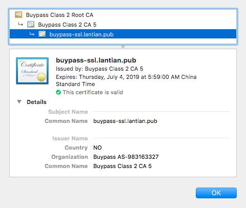 BuyPass 证书 Chrome 效果