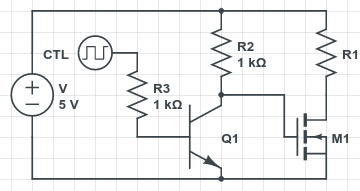 Power Switching Circuit with BJT Triode and Resistor